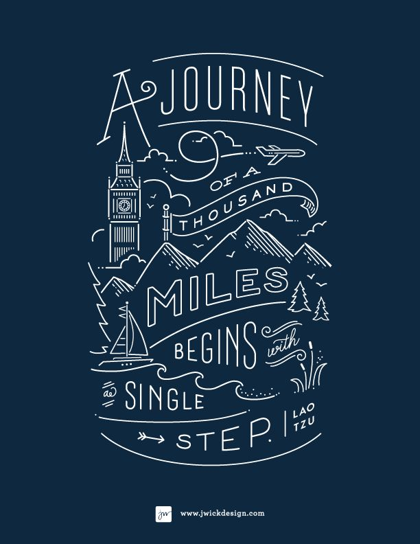 a journey begins with a single step