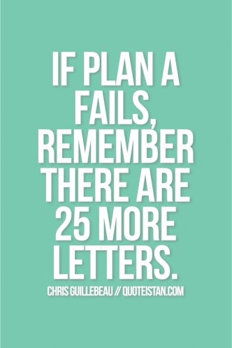 if plan A fails there are 25 letters